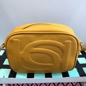 Authentic Bebe Crossbody Mustard Color NWT
